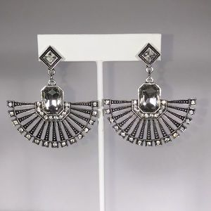 Amazing Art Deco Special Occasion Crystal Earrings